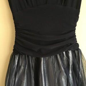 Macy's Dresses - Vintage navy formal dress